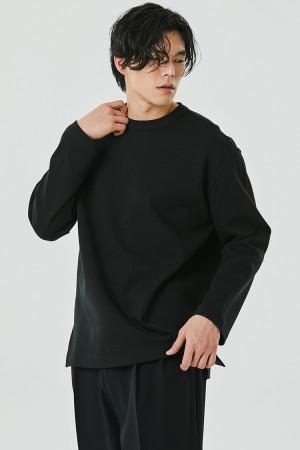 DOUBLE COTTON SWEATSHIRT(BLACK)