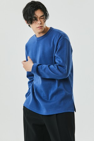 DOUBLE COTTON SWEATSHIRT(PERSIAN BLUE)
