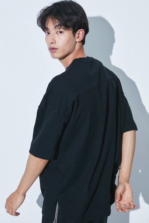 A.B.C OVER FIT T-SHIRT(BLACK)