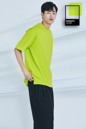 YORK OVER FIT T-SHIRT(WOOF GREEN)